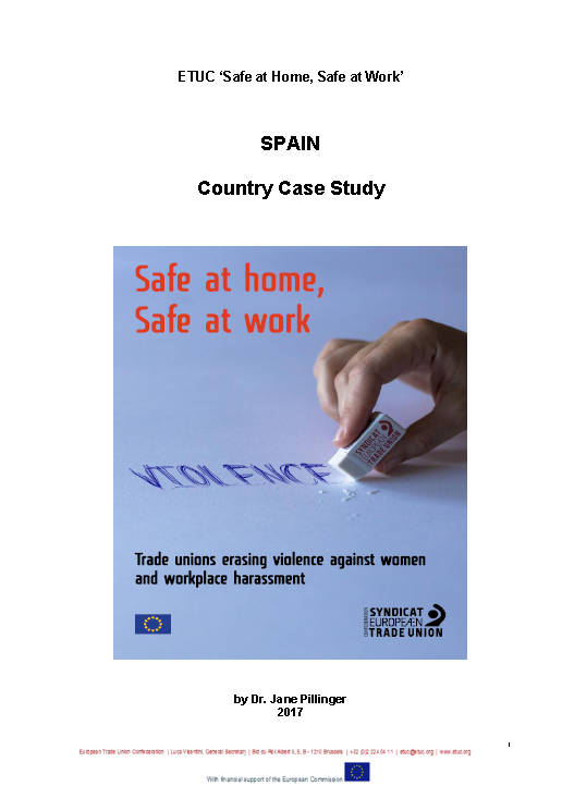 ETUC Safe at Home, Safe at Work SPAIN Country Case Study