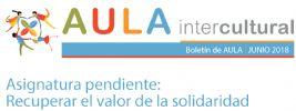 Boletín de Aula Intercultural junio 2018 Especial Refugiados