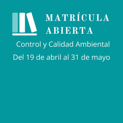 Se inicia el periodo de inscripción para el curso de formación continua en Control y Calidad Ambiental impartido por la Universitat Jaume I de Castelló