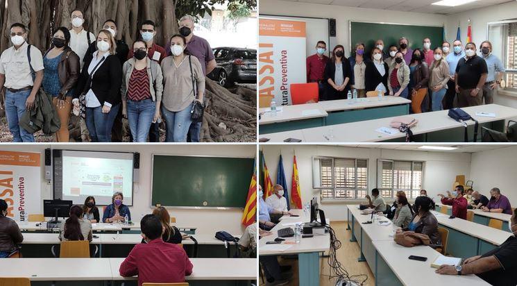 El INVASSAT y la asociación ERGO CV se reúnen con la delegación hondureña