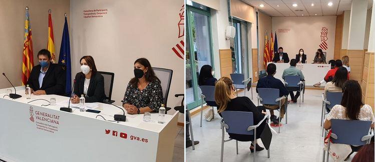 Presentación ante Conselleria de Participación, Transparencia, Cooperación y Calidad Democrática de la GVA, cofinanciador del proyecto de cooperación técnica.
