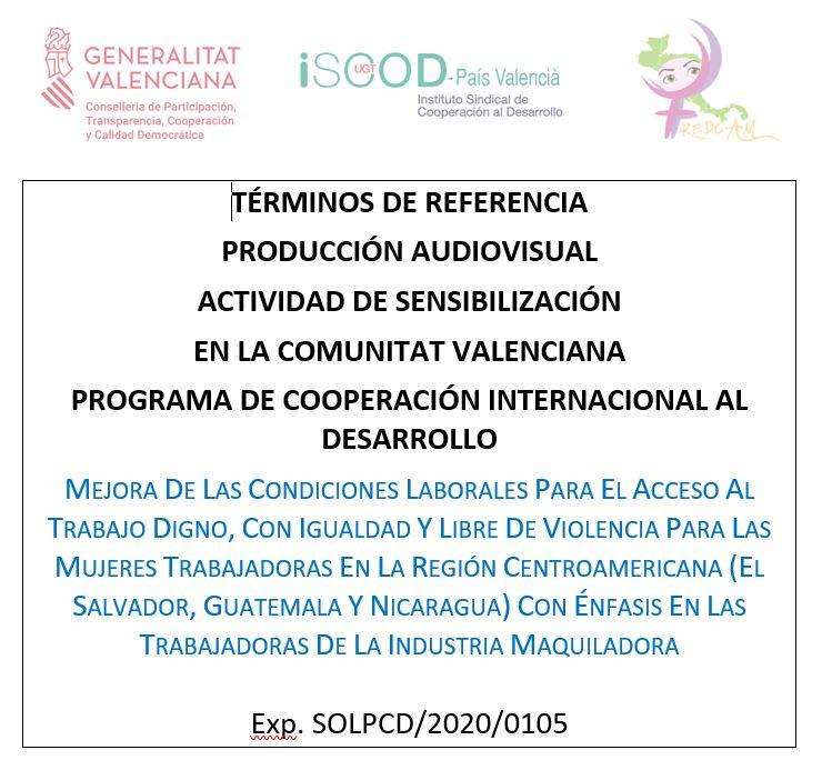 Términos de Referencia Producción Audiovisual en El Salvador y Guatemala